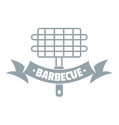 barbecue picnic logo simple gray style vector image