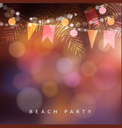 Beach party festa junina or midsummer greeting vector