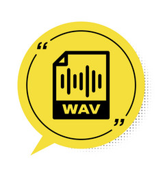 Black wav file document download wav button icon vector