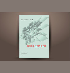 business report cover abstract template vector image