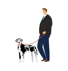 businessman and dalmatian vector image
