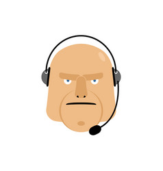 call center icon manager customer service head vector image