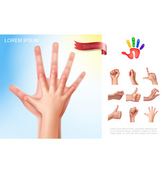 child and parent hands concept vector image