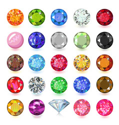 Colored gems set vector