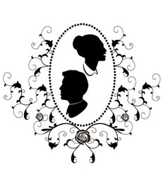 design element frame flourishes wedding vector image