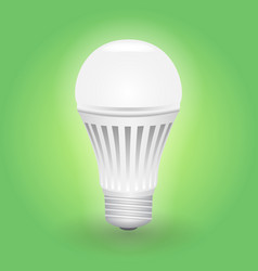 Economical led light bulb save energy lamp vector
