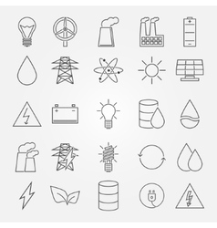Energy and industrial icon set vector