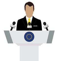 EU flag speaker vector image