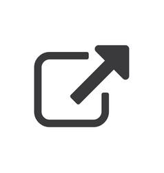 external link symbol icon vector image