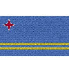 Flags Aruba on denim texture vector