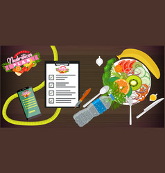 Food diet healthy lifestyle and weight loss vector