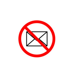 forbidden message icon can be used for web logo vector image