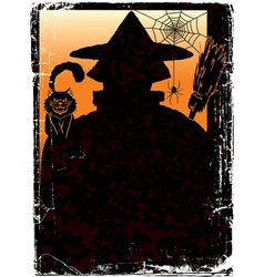 halloween poster with Jack and copy space vector image vector image