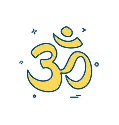 hindu sign icon design vector image