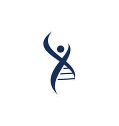 Human dna logo design template vector
