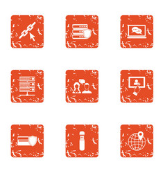 Infidelity icons set grunge style vector