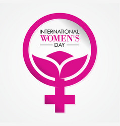 International womens day letter vector