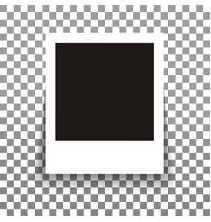 isolated realistic empty photo frame mockup vector image