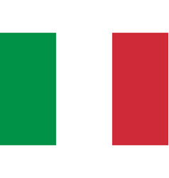 Italian flag flat layout vector