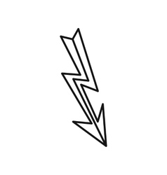 Lightning icon in outline style vector image