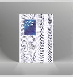 minimal covers design geometric halftone vector image