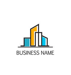modern building business company logo vector image