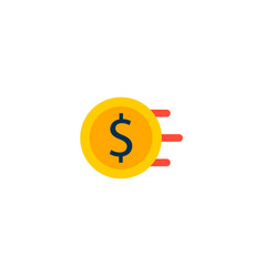 money flow icon flat element vector image