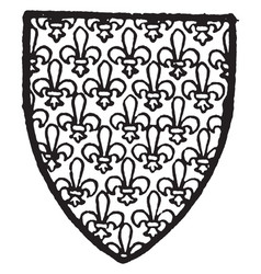 Mortimer of norfolk bore gold powdered with vector