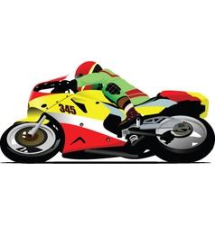 Motorsports rider vector image