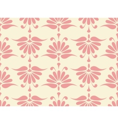 pink floral pattern vector image