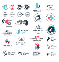 Premium quality beauty and nature icons vector