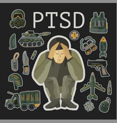 Ptsd post traumatic stress disorder vector