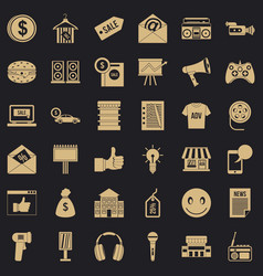Retail icons set simple style vector
