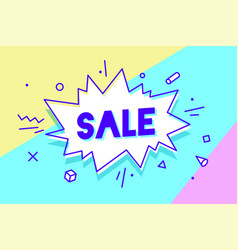 sale speech bubble banner poster and sticker vector image