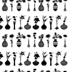 seamless texture with rows of variety modern vases vector image