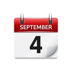 September 4 flat daily calendar icon vector