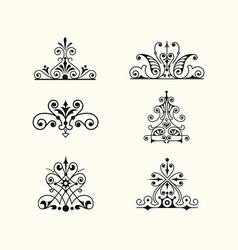 Set collection arabic floral borde vector
