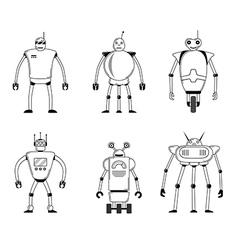 Set of robots vector image
