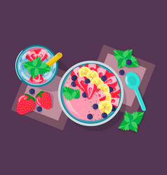 Smoothie bowl vector