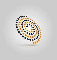 spiral futuristic icon abstract logo swirl vector image