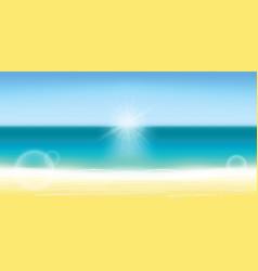 summer background blurred summer beach sun sky vector image