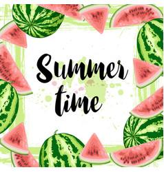 summer watermelon frame vector image