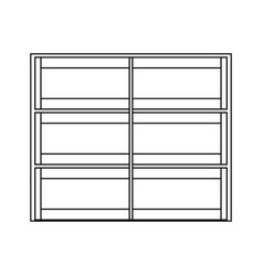 Supermarket shelves icon image vector
