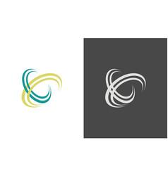 swirl letter x logo vector image