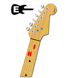The guitar chord of e major vector