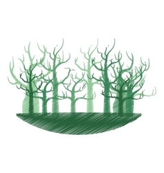 tree forest branch hand drawing isolated icon vector image