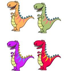 tyrannosaurus dinosaur vector image