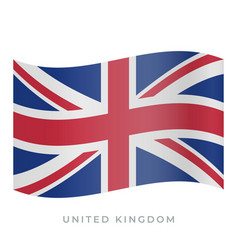 united kingdom waving flag icon vector image
