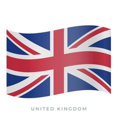 united kingdom waving flag icon vector image