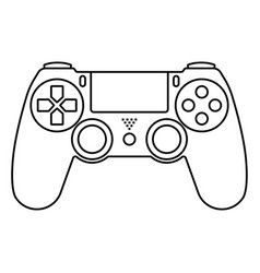 Video game ps4 controllers gamepad -line art vector